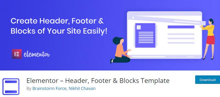 Elementor - Header, Footer, and Blocks Template