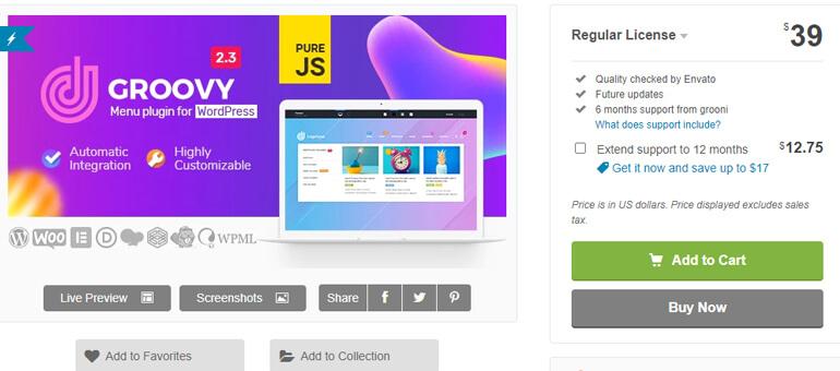groovy mega menu wordpress header plugins