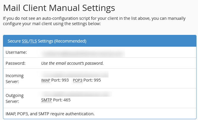 mail client manual settings how to use custom domain with gmail
