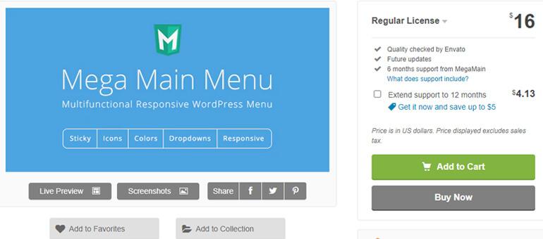 mega main menu wordpress header plugins