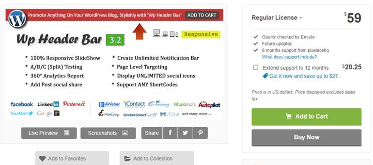 wp header bar wordpress header plugins