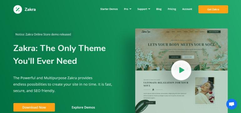 Zakra SEO-friendly theme for WordPress