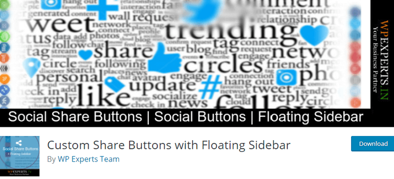 Custom Share Button with Floating Sidebar
