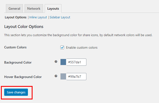 Layout Option for How to Add Social Media-Share-Button to WordPress Blog