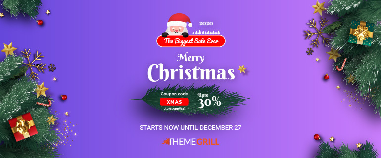 ThemeGrill Christmas Sale Offer 2020 on WordPress Themes