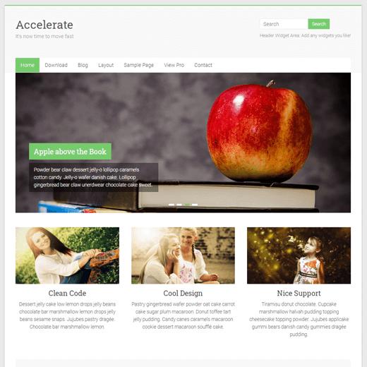 Accelerate WordPress Theme Demo