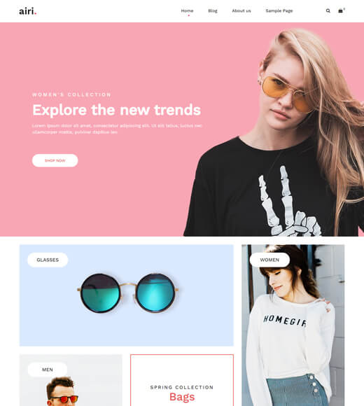 airi best theme for woocommerce and elementor