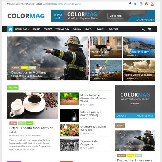 ColorMag Magazine Style WordPress Theme
