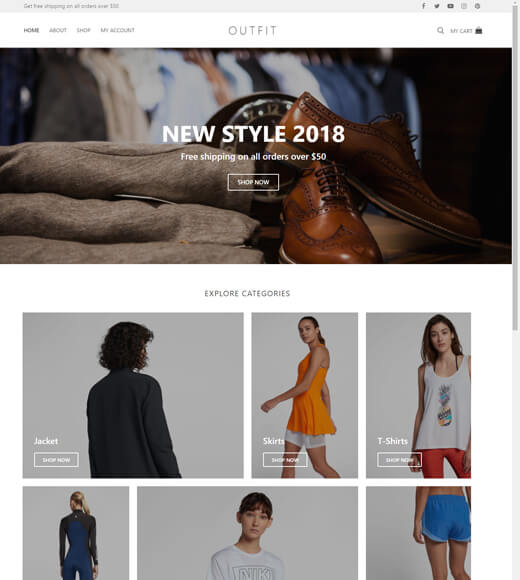 customify best woocommerce theme with elementor
