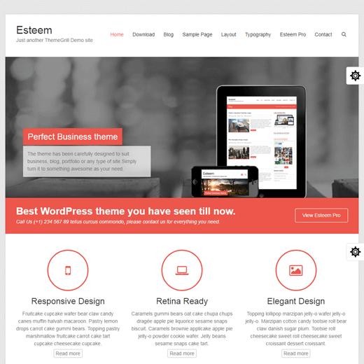Esteem Multipurpose WordPress Theme Demo