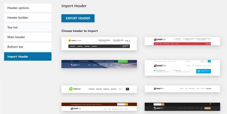 Import Header
