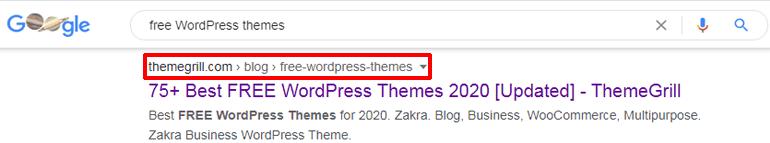 Long Tail Keywords in URL