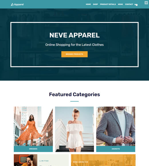 neve best woocommerce theme with elementor