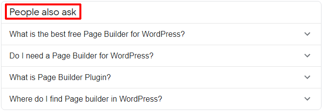 People Also Asks Box by Google