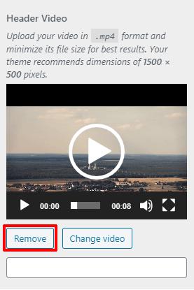 Remove Header Video Button