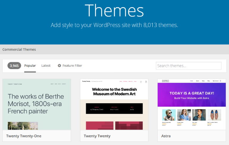 wordpress stats themes