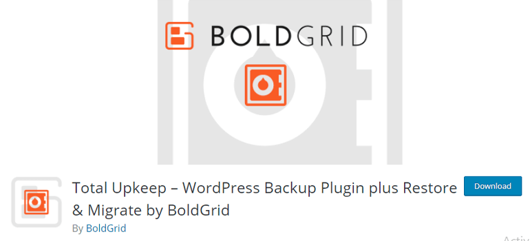 BoldGrid Backup Plugin