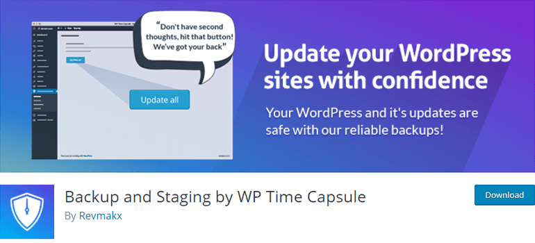 WP Time Capsule WordPress Backup Plugin