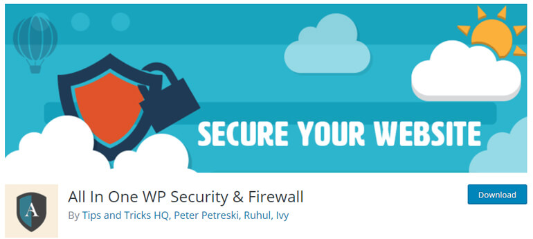All in One WP Secuirity and Firewall