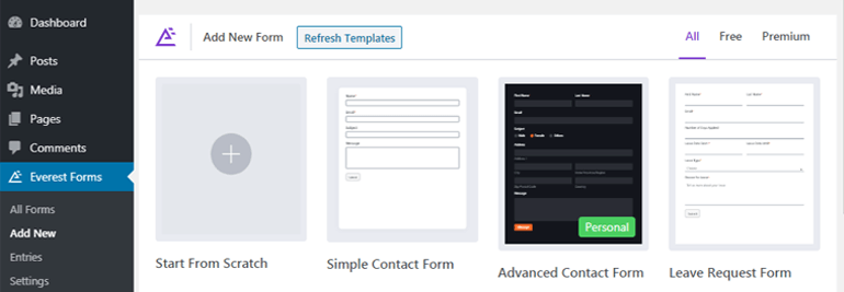 Everest Forms Templates