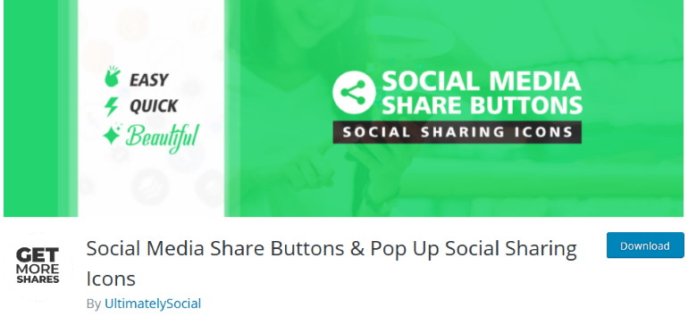 social media share buttons and pop up social sharing icons