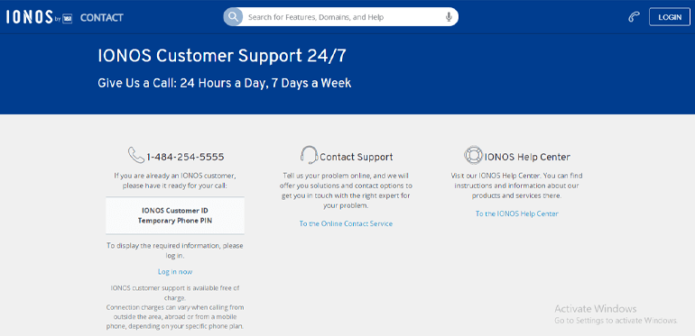 1and1 Customer Support