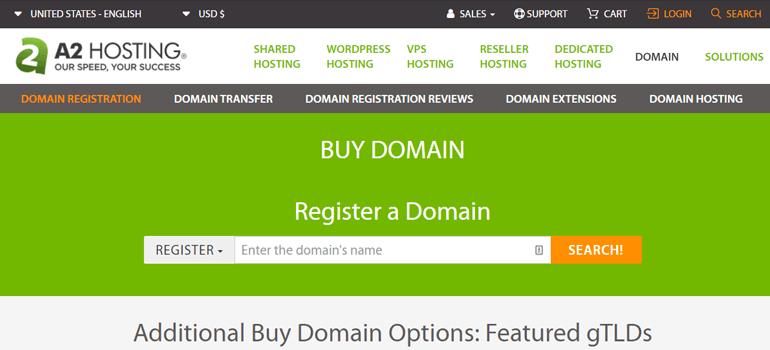 A2 Hosting Domain Name Registrar
