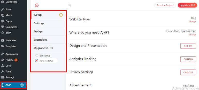 AMP in WordPress