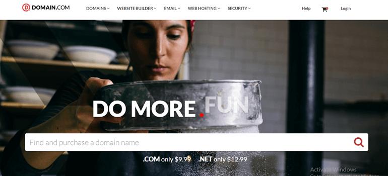 Domain.com Domain Name Registration Site