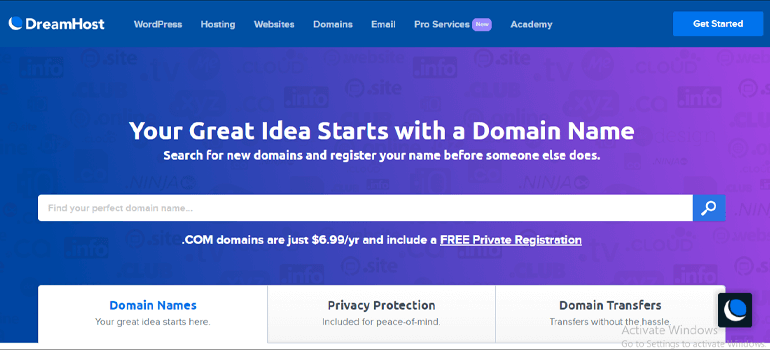 Dreamhost Best Domain Registrar