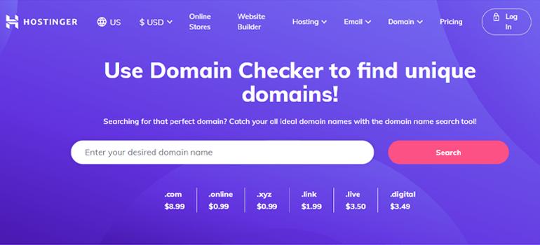 Hostinger Best Domain Registration Site