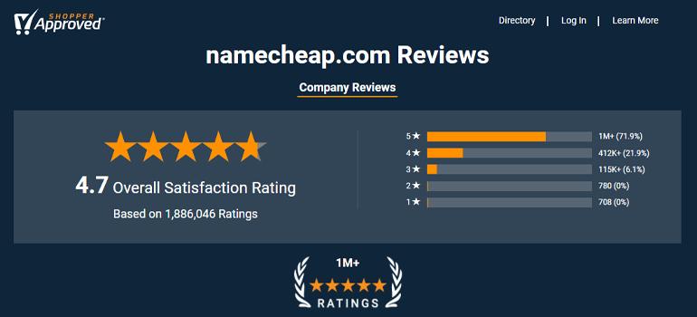 Namecheap Customer Review