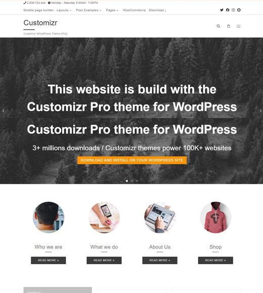 customizr best multipurpose wordpress themes