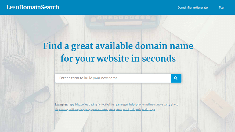 Lean Domain Search Blog Name Generator