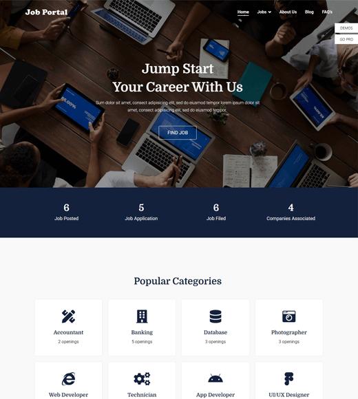 Zakra Job Portal Theme