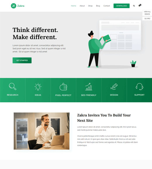 Zakra agency WordPress themes