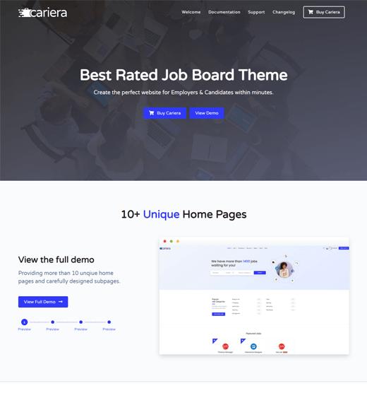 Cariera Job Board WordPress Theme