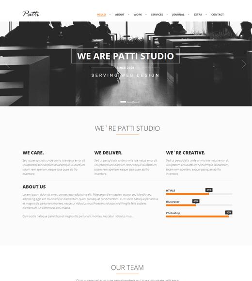 Patti creative agency wordpress theme