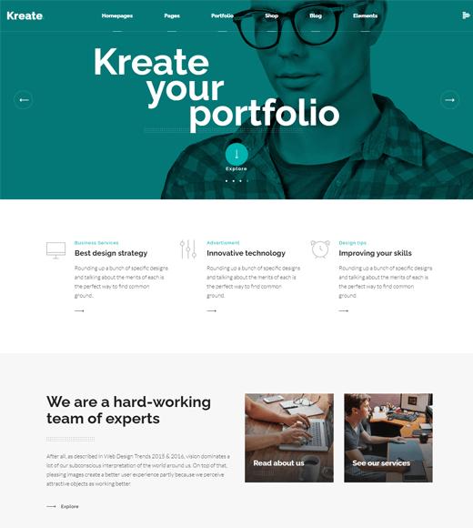 Kreate agency WordPress themes