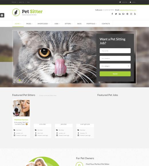 Pet Sitter Job Board WordPress Theme
