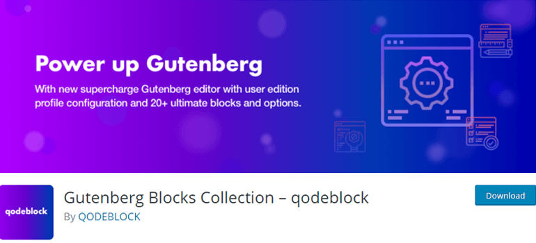 QodeBlock best wordpress gutenberg plugins