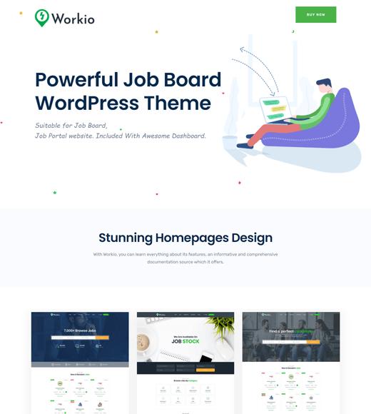 Workio Job Board WordPress Themes