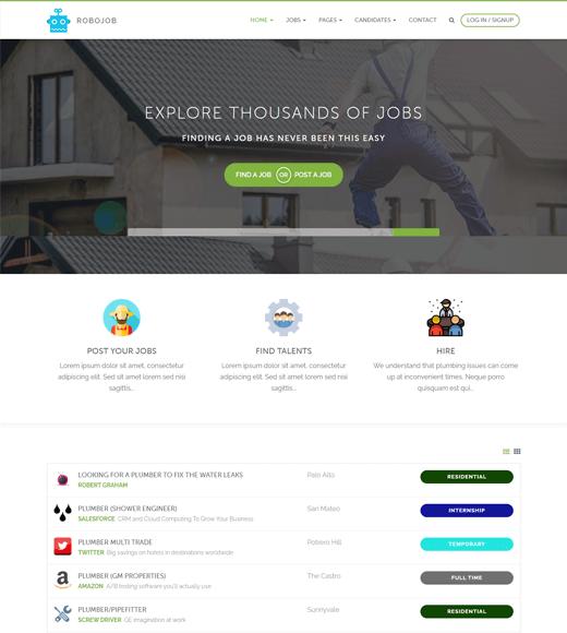 Robojob Job Board WordPress Themes