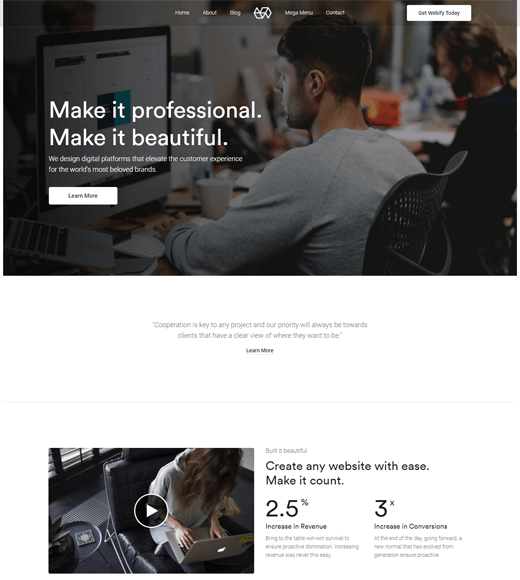 Webify creative agency wordpress theme