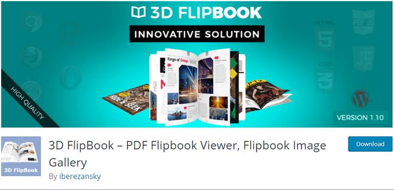 3D FlipBook Online Magazine Plugin