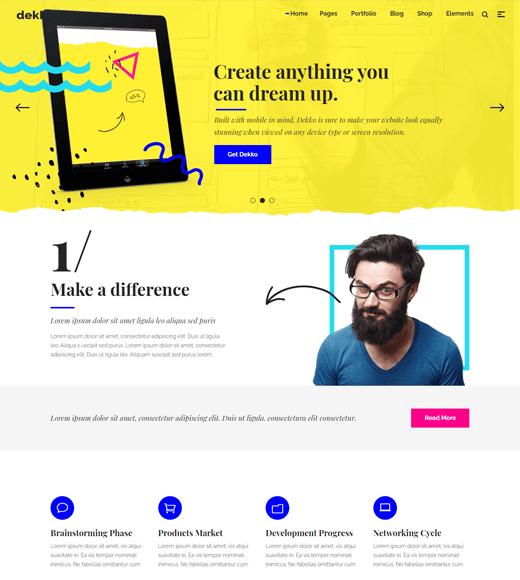 Dekko agency WordPress themes