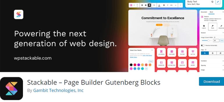 Stackable wordpress gutenberg blocks plugins