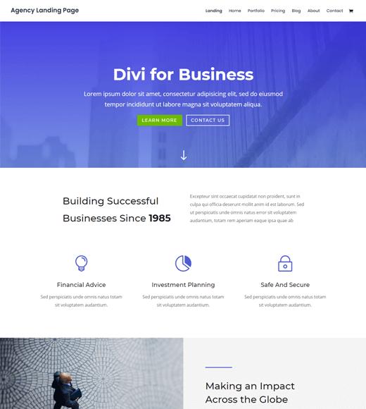 Divi creative agency wordpress theme