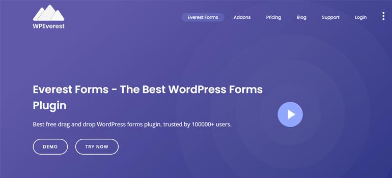 Everest Forms wordpress gutenberg blocks plugins