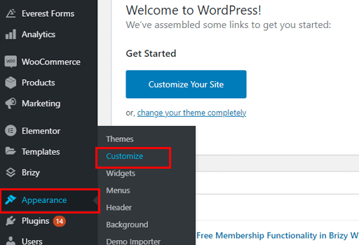 How to Make a Business Website in WordPress Customization Navigation